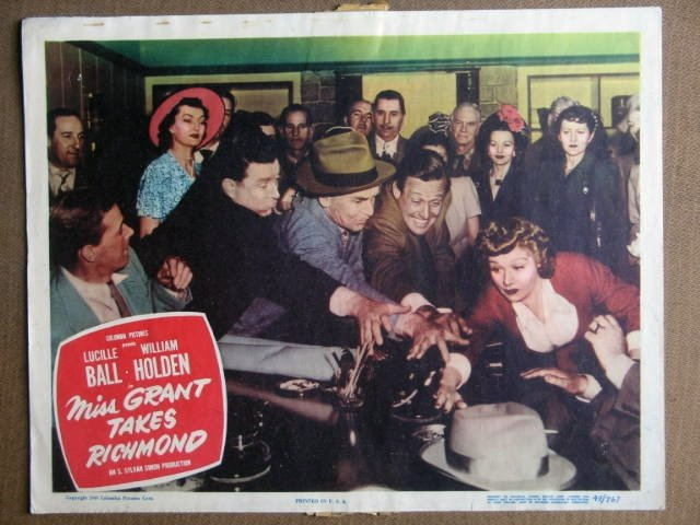 FC27 Miss Grant Takes Richmond LUCILLE BALL  Lobby Card