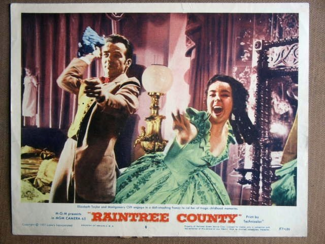 FC34 Raintree Country LIZ TAYLOR/MONTY CLIFT Lobby Card