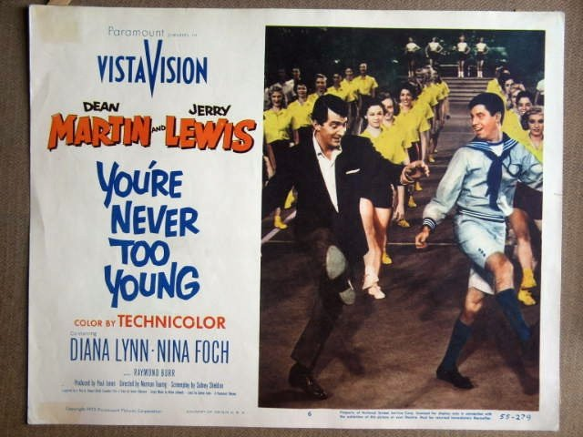 FC48 Youre Never Too DEAN MARTIN/JERRY LEWIS Lobby Card