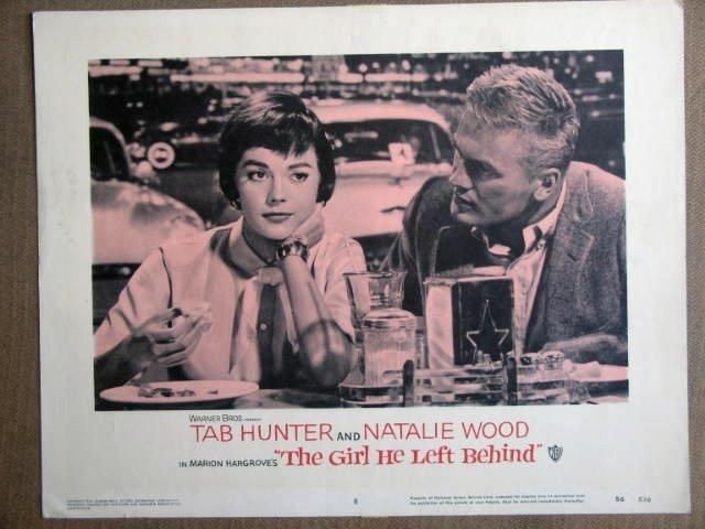 FD23 Girl He Left NATALIE WOOD/TAB HUNTER Lobby Card