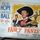 FE2 Fancy Pants LUCILLE BALL/BOB HOPE Half Sheet Poster