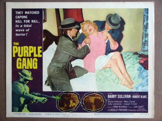 FE26 Purple Gang ROBERT BLAKE/BARRY SULLIVAN Lobby Card