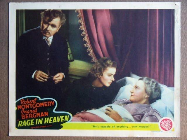 FE33 Rage In Heaven INGRID BERGMAN/G SANDERS Lobby Card