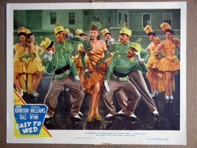 FF18 Easy To Wed LUCILLE BALL dancing Lobby Card