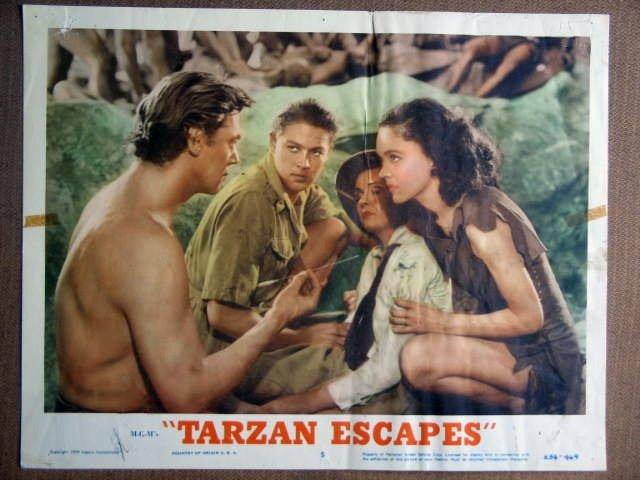 FG42 Tarzan Escapes JOHNNY WEISSMULLER  Lobby Card