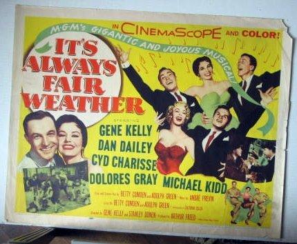 FH14  It's Always Fair Weather GENE KELLY Half Sheet Poster