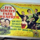 FH14  It's Always Fair Weather GENE KELLY Half Sheet Poster