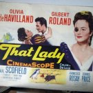 FI09 That Lady OLIVIA deHAVILLAND Half Sheet Poster