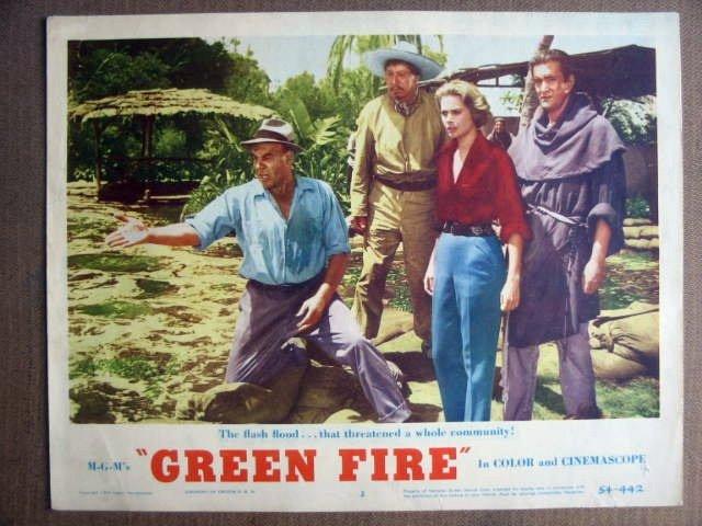 FK24 Green Fire GRACE KELLY Original 1954 Lobby Card