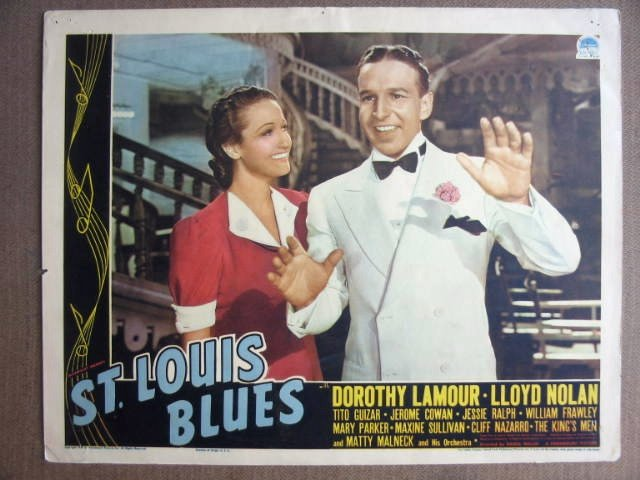 FK40 St Louis Blues DOROTHY LAMOUR Portrait Lobby Card