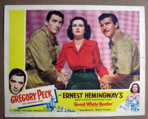 FL20 Great White Hunter GREGORY PECK Lobby Card