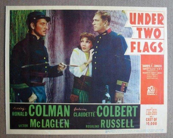 FL47 Under 2 Flags CLAUDETTE COLBERT/COLMAN Lobby Card