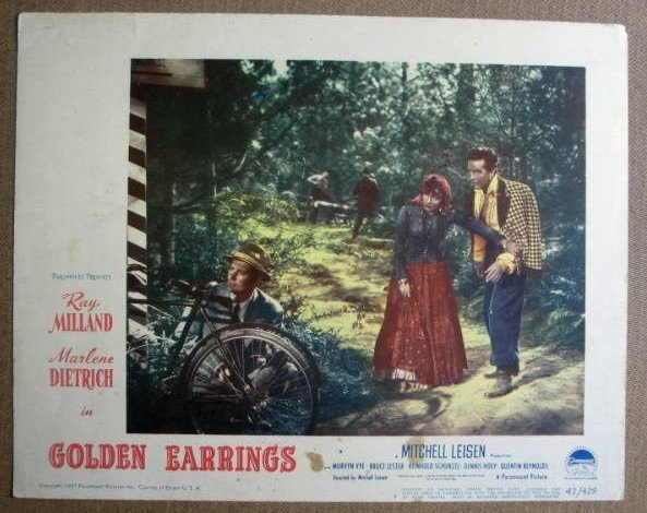 FM12 Golden Earrings MARLENE DIETRICH 1947 Lobby Card