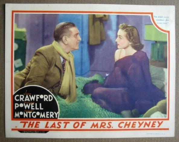 FM14 Last Of Mrs Cheney JOAN CRAWFORD 1937 Lobby Card