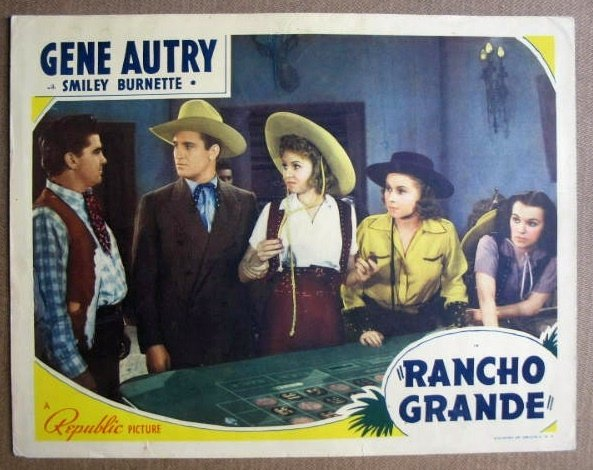 FM27 Rancho Grande GENE AUTRY Original 1940 Lobby Card