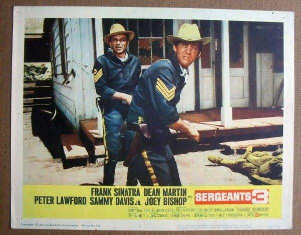 FM32 Sergeants 3 FRANK SINATRA/DEAN MARTIN Lobby Card