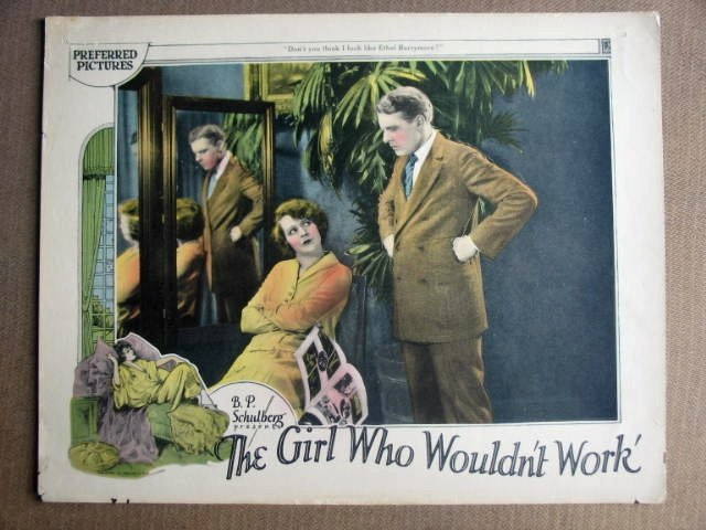 FN19 Girl Who Wouldn't Work LIONEL BARRYMORE Lobby Card
