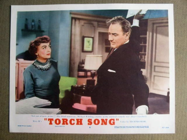 FN42 Torch Song JOAN CRAWFORD Original 1953 Lobby Card