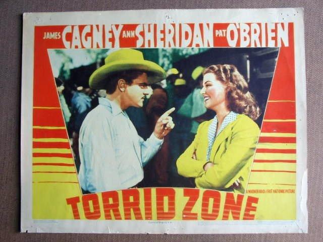 FO21 Torrid Zone JAMES CAGNEY/ANN SHERIDAN Lobby Card
