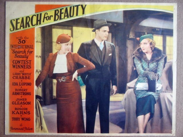 GM38 Search For Beauty IDA LUPINO/B CRABBE Lobby Card