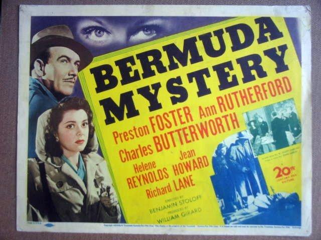 GK04 Bermuda Mystery PRESTON FOSTER Title Lobby Card