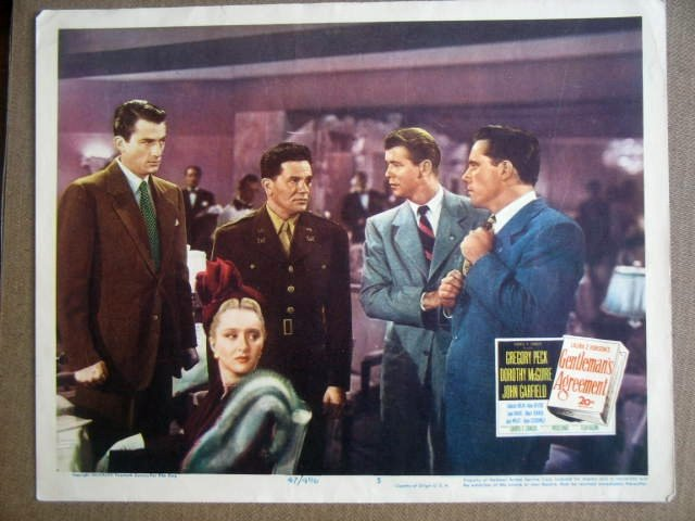 GL10 Gentleman's Agreement GREGORY PECK Lobby Card