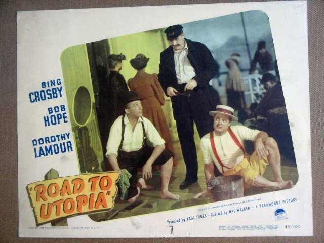 GL32 Road To Utopia BOB HOPE/BING CROSBY Lobby Card