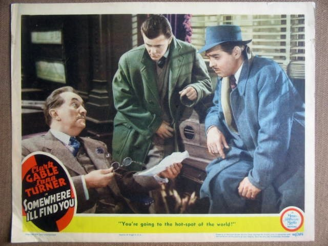 GM42 Somewhere I'll Find You CLARK CABLE Lobby Card