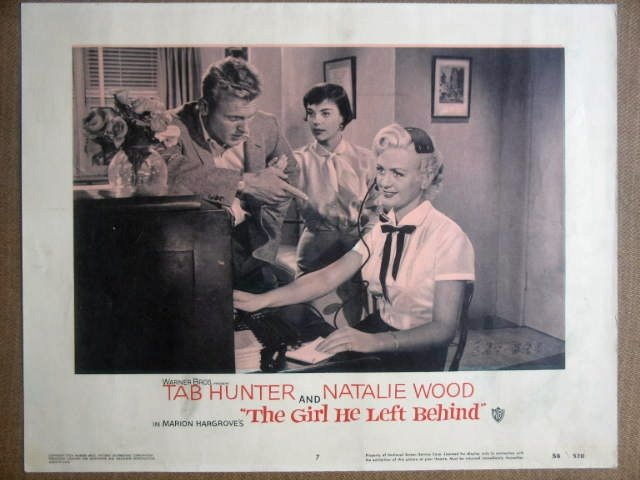 GO12 Girl He Left NATALIE WOOD/TAB HUNTER Lobby Card