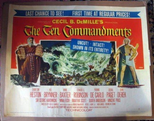 GM01 Ten Commandments CHARLTON HESTON Half Sheet Poster