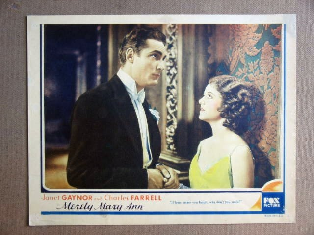 FS30 Merely Mary Ann JANET GAYNOR Portrait Lobby Card