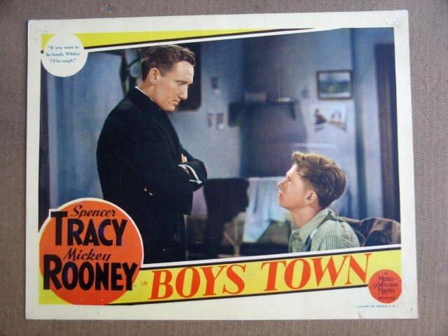 FX15 Boys Town MICKEY ROONEY/TRACY Portrait Lobby Card