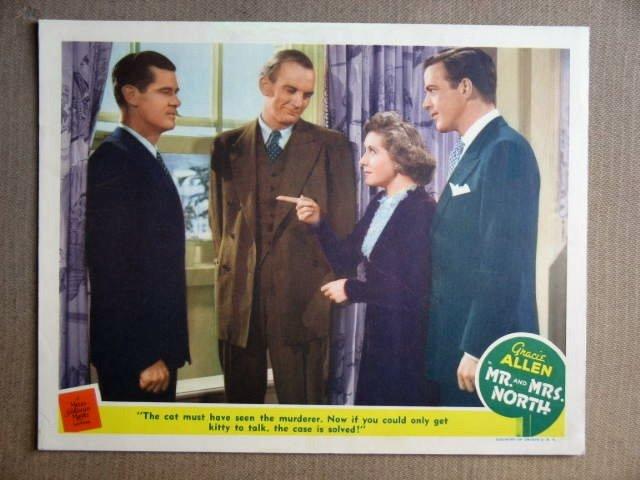 FS31 Mr & Mrs North GRACIE ALLEN Orig 1942 Lobby Card