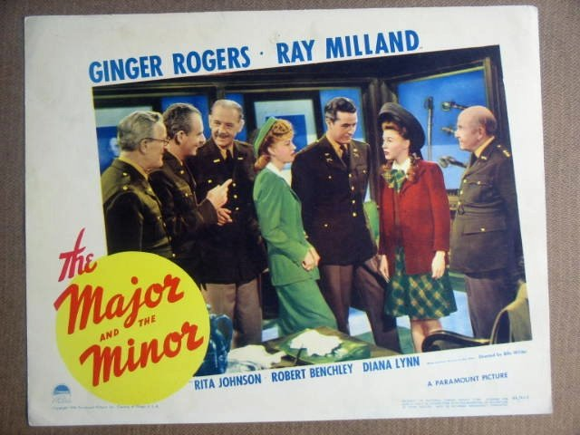 GB42 Major & Minor GINGER ROGERS/RAY MILLAND Lobby Card