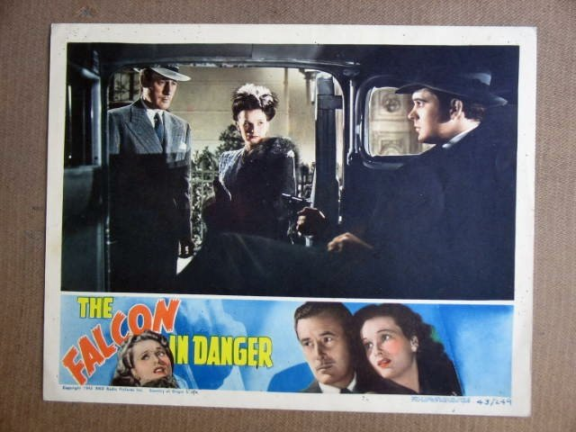 FU16 Falcon In Danger TOM CONWAY/JEAN BROOKS Lobby Card