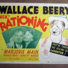 FR40 Rationing WALLACE BEERY/HIRSHFELD Title Lobby Card