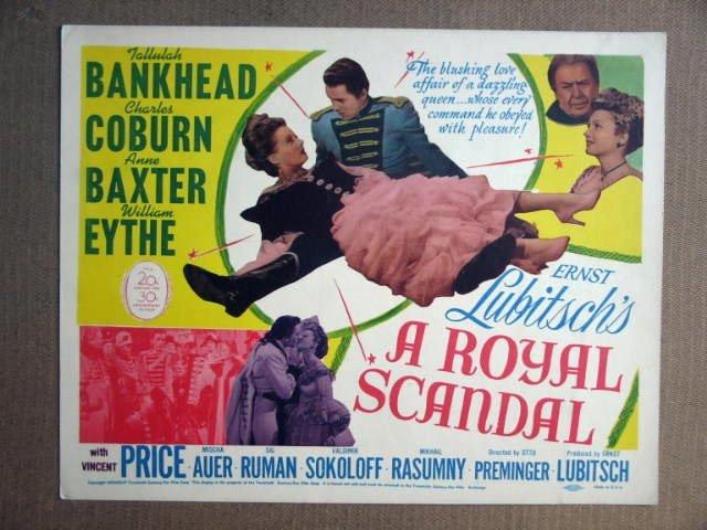 FS34 Royal Scandal TALLULAH BANKHEAD Title Lobby Card