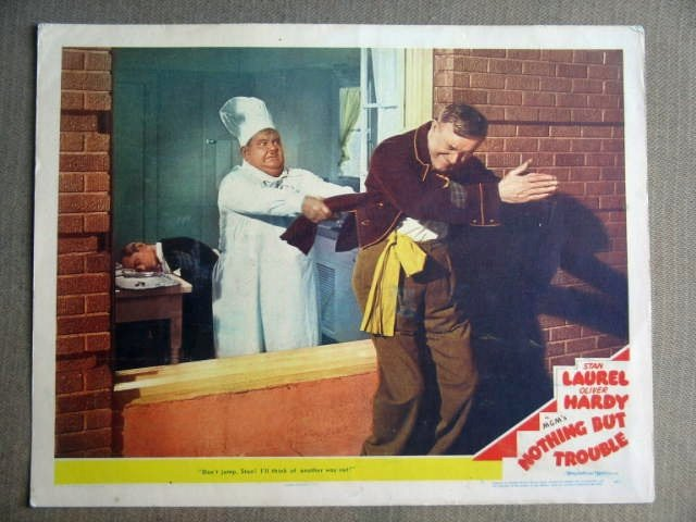 FZ19 Nothing But Trouble LAUREL & HARDY 1944 Lobby Card