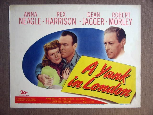 FS49 Yank In London REX HARRISON 1946 Title Lobby Card