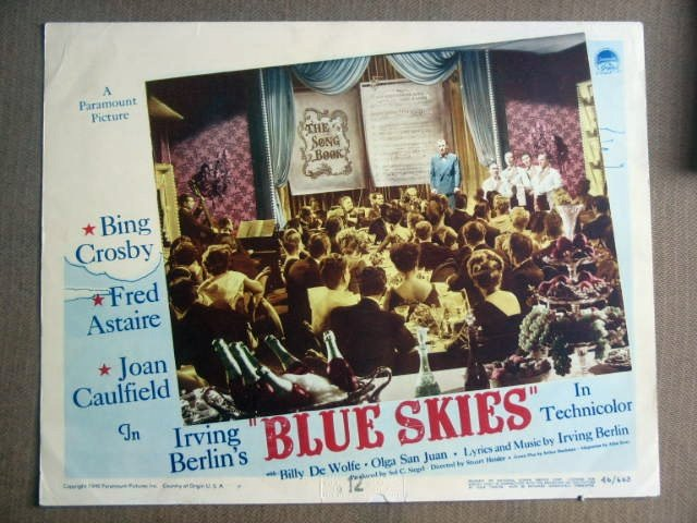 FY07 Blue Skies BING CROSBY/FRED ASTAIRE Lobby Card