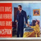 GA32 Deception BETTE DAVIS/PAUL HENREID Lobby Card