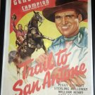 FX37 Trail To San Antone GENE AUTRY One Sheet Poster LB