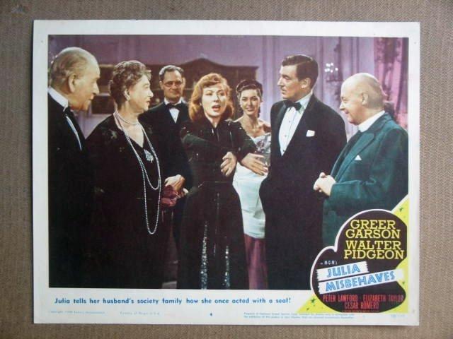 FS25 Julia Misbehaves GREER GARSON/W PIDGEON Lobby Card