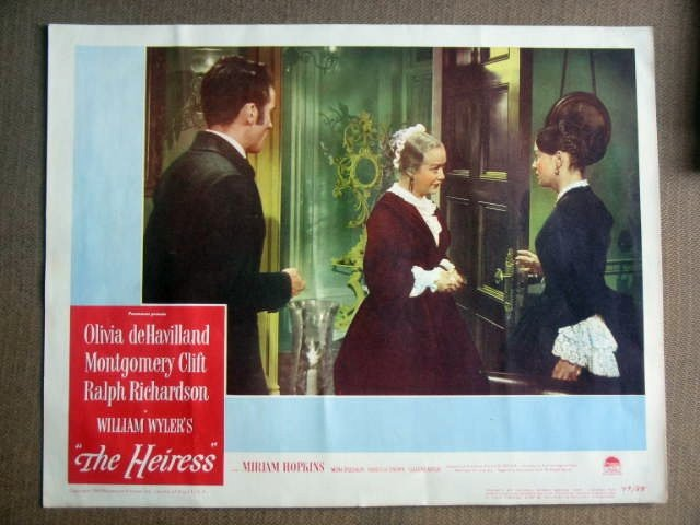 FY15 Heiress OLIVIA DeHAVILLAND/MONTY CLIFT Lobby Card