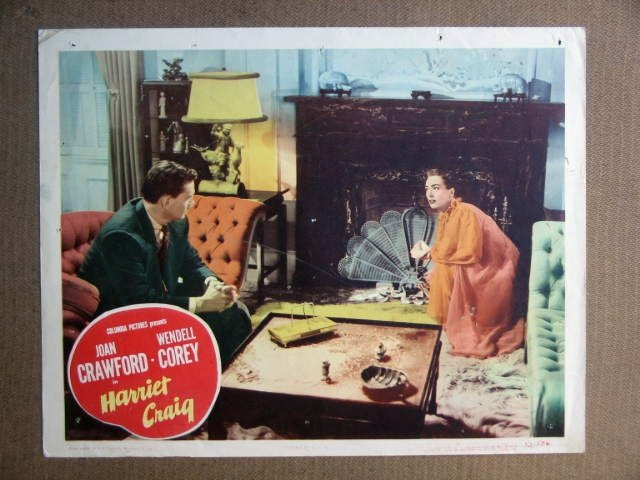 FR13 Harriet Craig JOAN CRAWFORD Orig 1950 Lobby Card