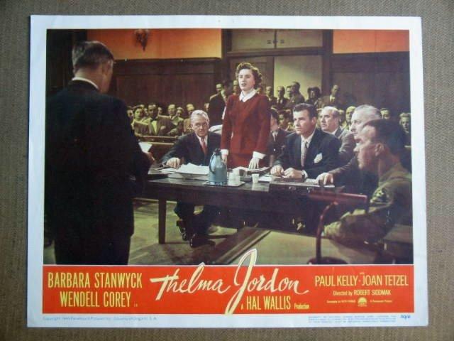 FW43 Thelma Jordon BARBARA STANWYCK 1950 Lobby Card