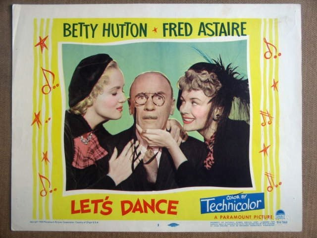 GI24 Let's Dance ROLAND YOUNG/FRED ASTAIRE Lobby Card