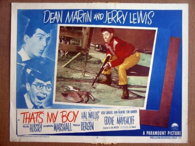 GI44 That's My Boy JERRY LEWIS/DEAN MARTIN Lobby Card