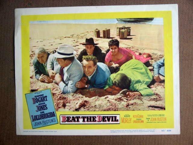 FT05  BEAT THE DEVIL HUMPHREY BOGART/JENNIFER JONES Lobby card