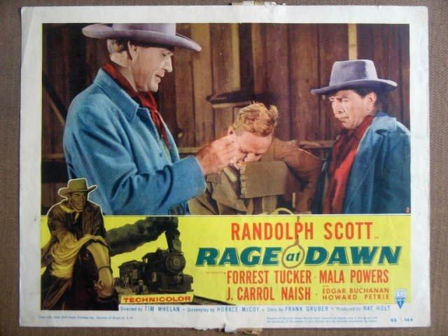 GI32 Rage At Dawn RANDOLPH SCOTT 1955 Lobby Card
